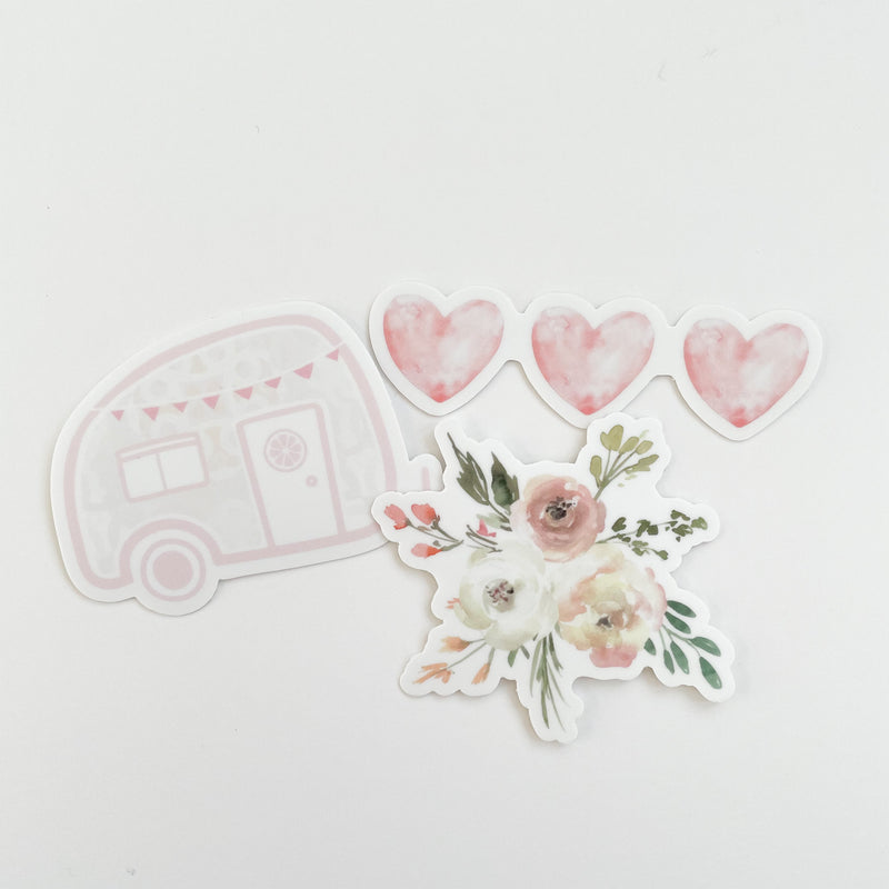 Wildflower Camper Sticker