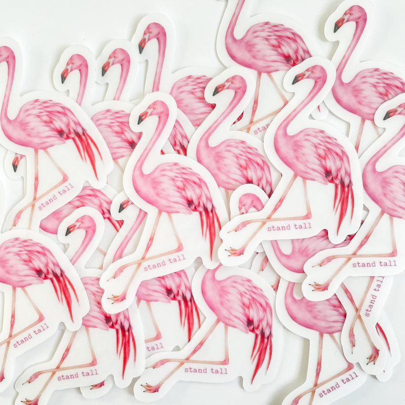 flamingo vinyl sticker