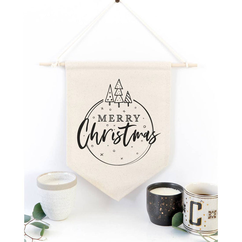 Merry Christmas Canvas Wall Hanging