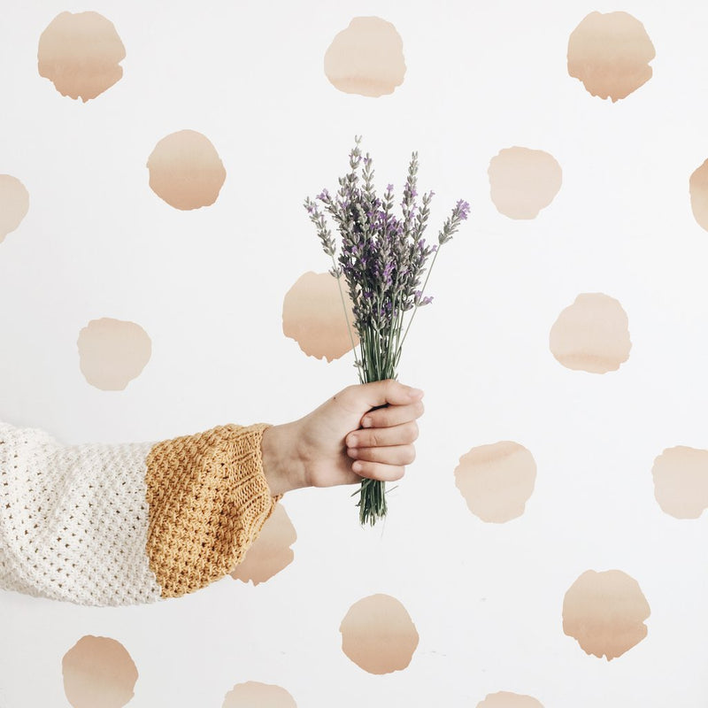 Water Colour Polka Dots: Sand - Urban Walls Decals