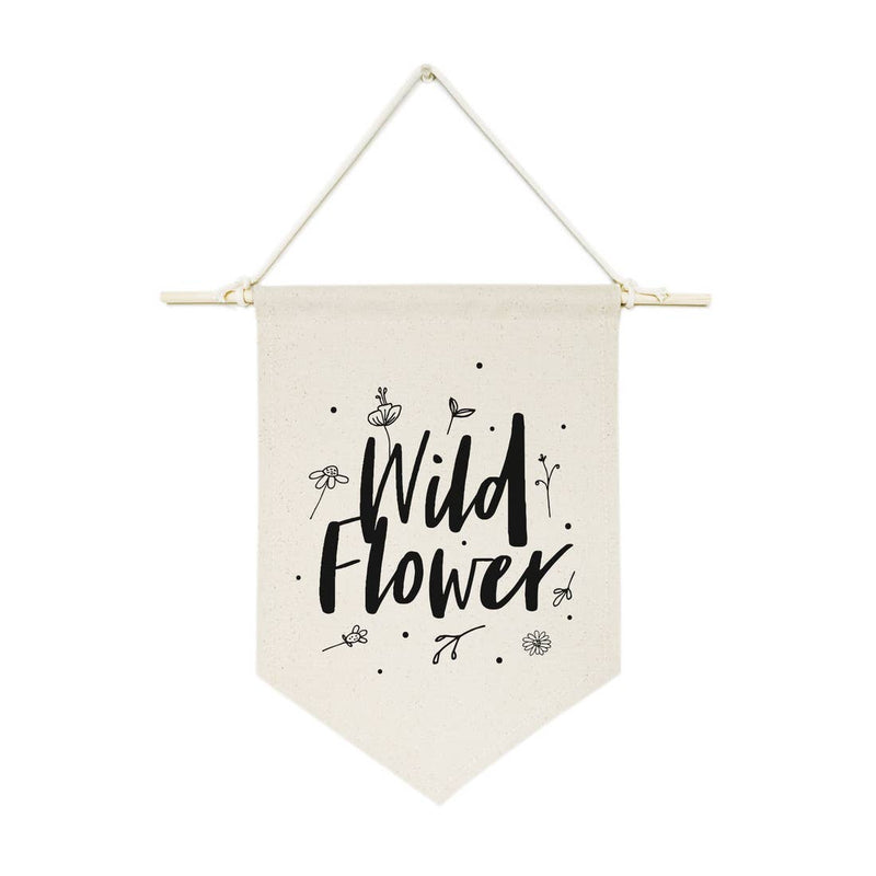 Wild Flower Canvas Wall Hanging