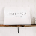 Press + Fold Laundry Sign