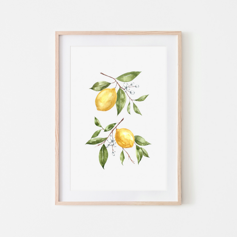 Pink Lemon Decor, Pink Lemon Decor Print, digital prints, digital print, home décor print, home décor prints, lemon print