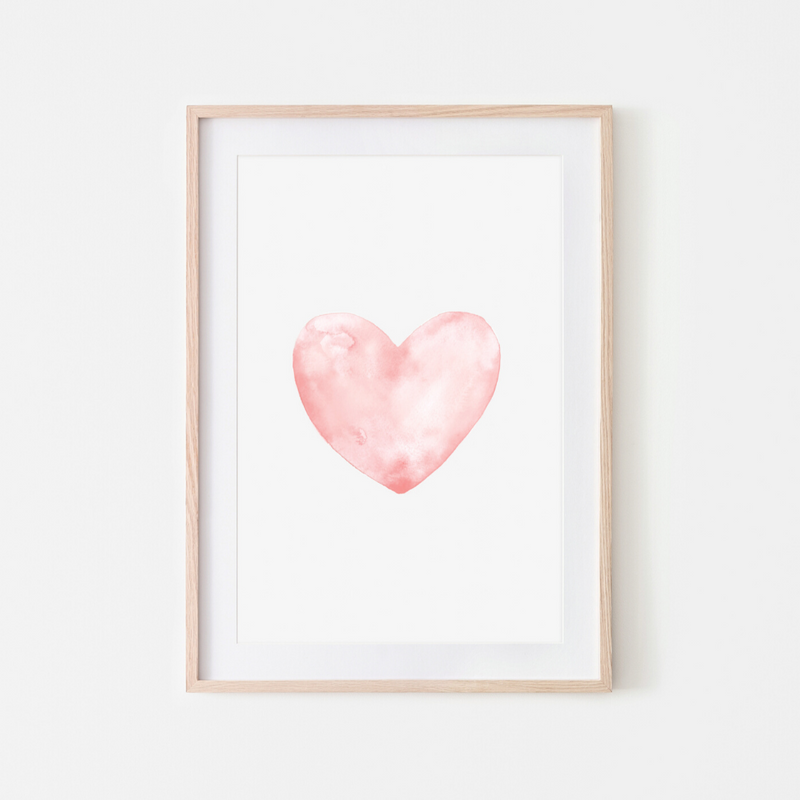 Pink Lemon Decor, Pink Lemon Decor Print, digital prints, digital print, home décor print, home décor prints, Pink Lemon Decor Pink Heart Print, pink heart print, pink heart