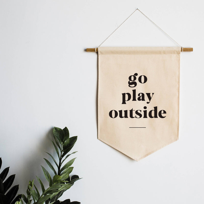 Go Play Outside Canvas Wall Hanging