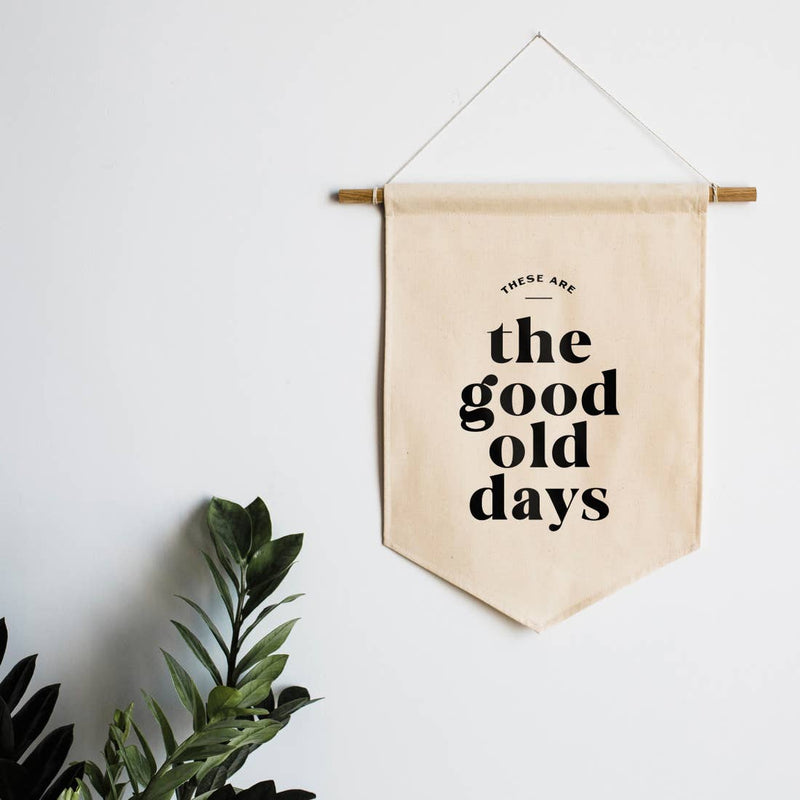 The Good Old Days Canvas Wall Hanging