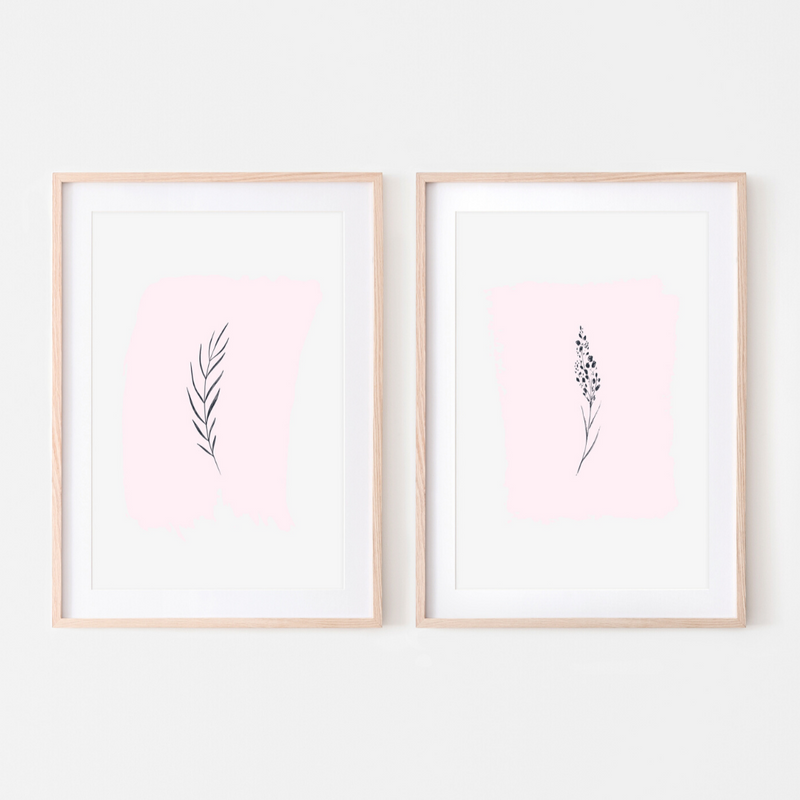 Pink Lemon Decor, Pink Lemon Decor Print, digital prints, digital print, home décor print, home décor prints, Pink Lemon Decor Wild Foliage Pink Print