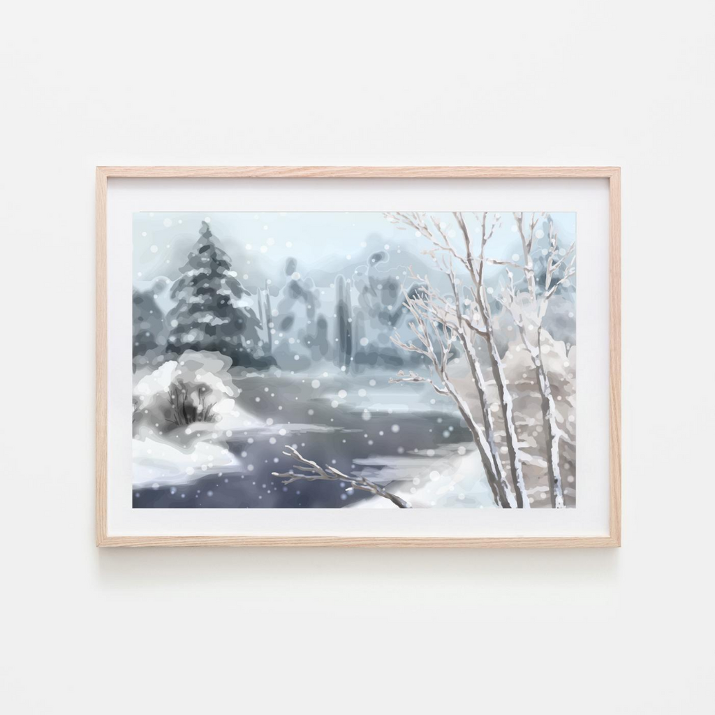 Shop Pink Lemon Decor prints for easy, affordable art you can frame yourself! Pink Lemon Decor Water Print, printed on high-quality card stock print only- frame/props are not included. Digital print available. winter wonderland print, winter wonderland