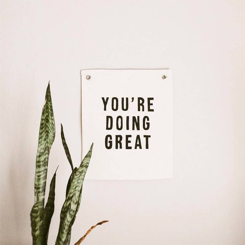 You're Doing Great Canvas Wall Hanging