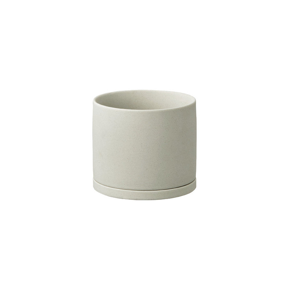 191 porcelain plant pot earth grey.
