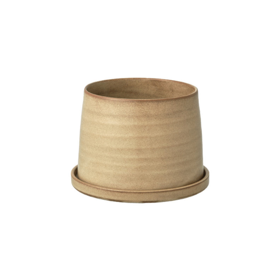 192 plant pot with saucer, beige.