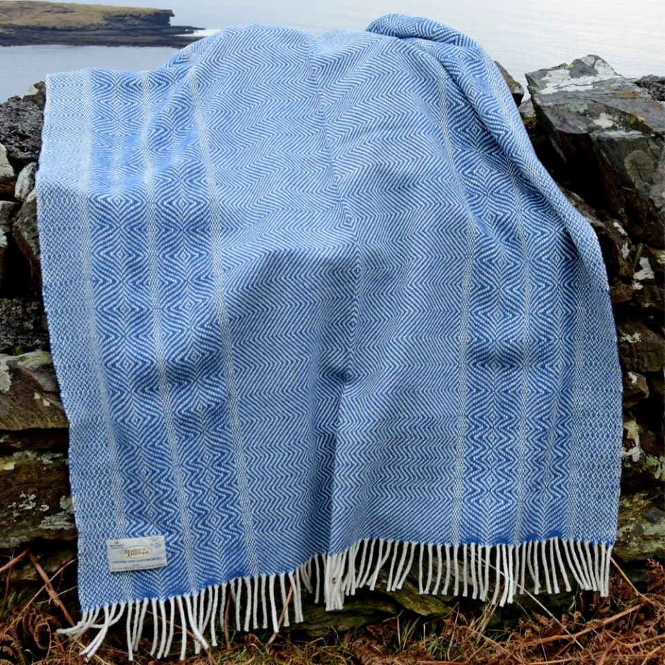Undulating Twill Large Wool Throw by Studio Donegal