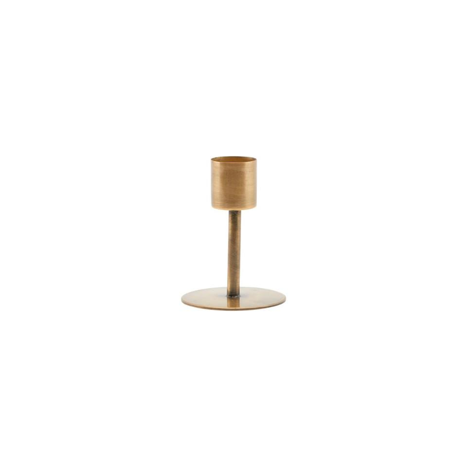 Anit small brass candleholder, for dinner candle.