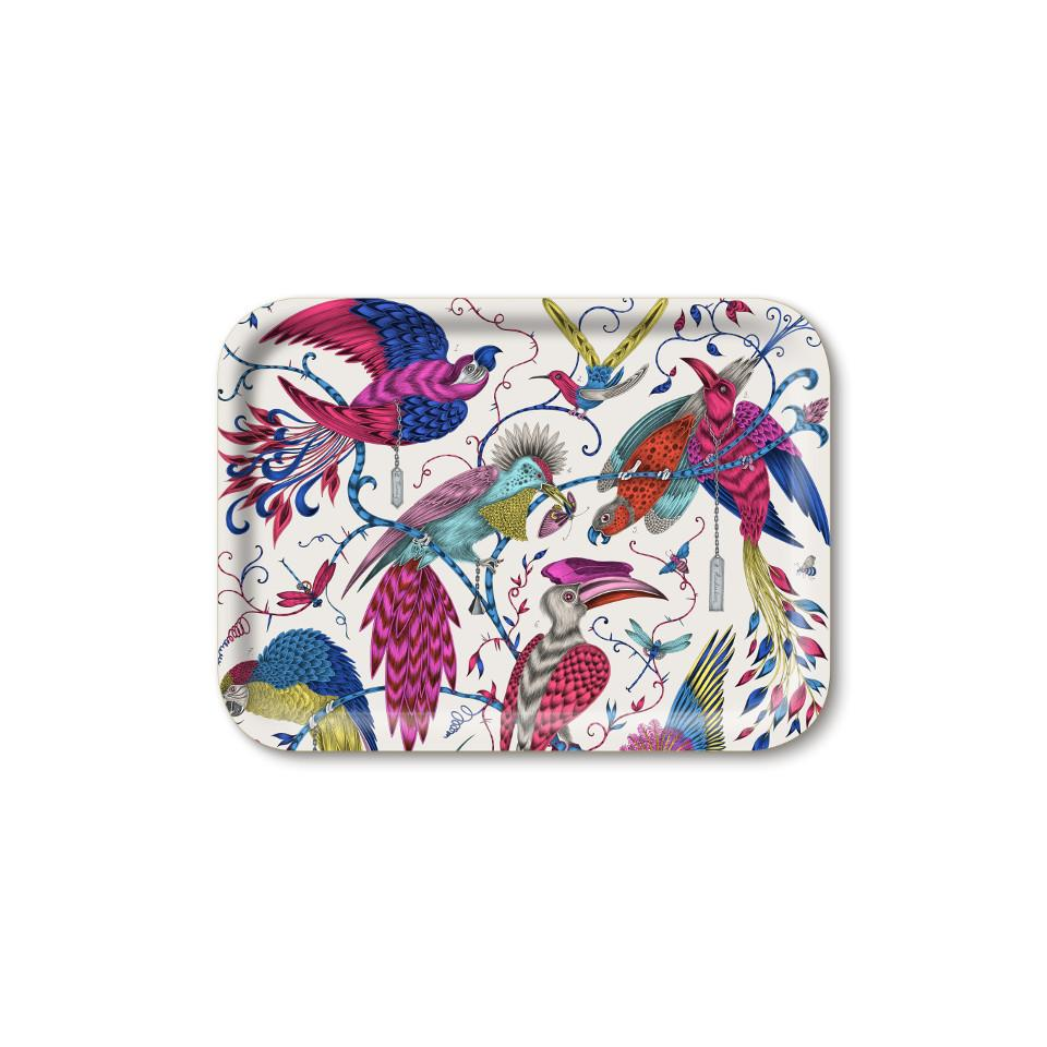 Audubon by Emma J. Shipley multicolour small rectangular tray, 27 x 20 cm.