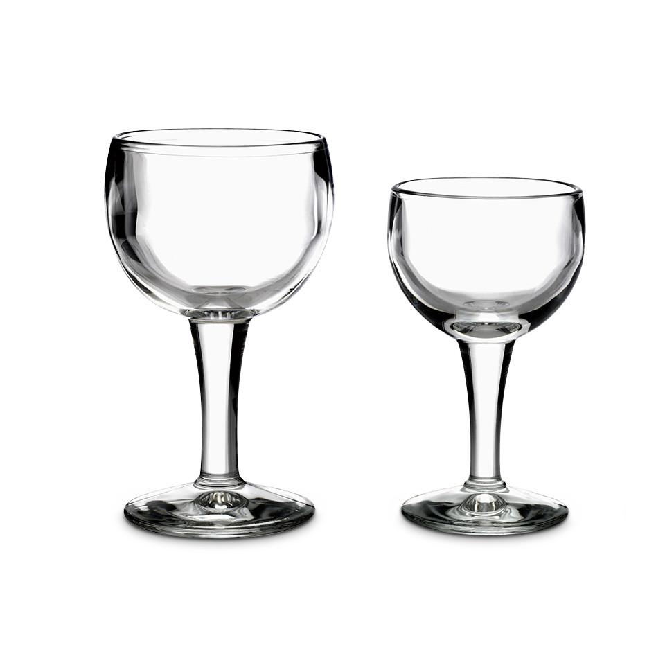 Bistrot wine glasses, large and small.
