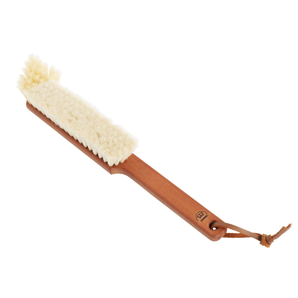 Book dual bristle brush for dusting books.