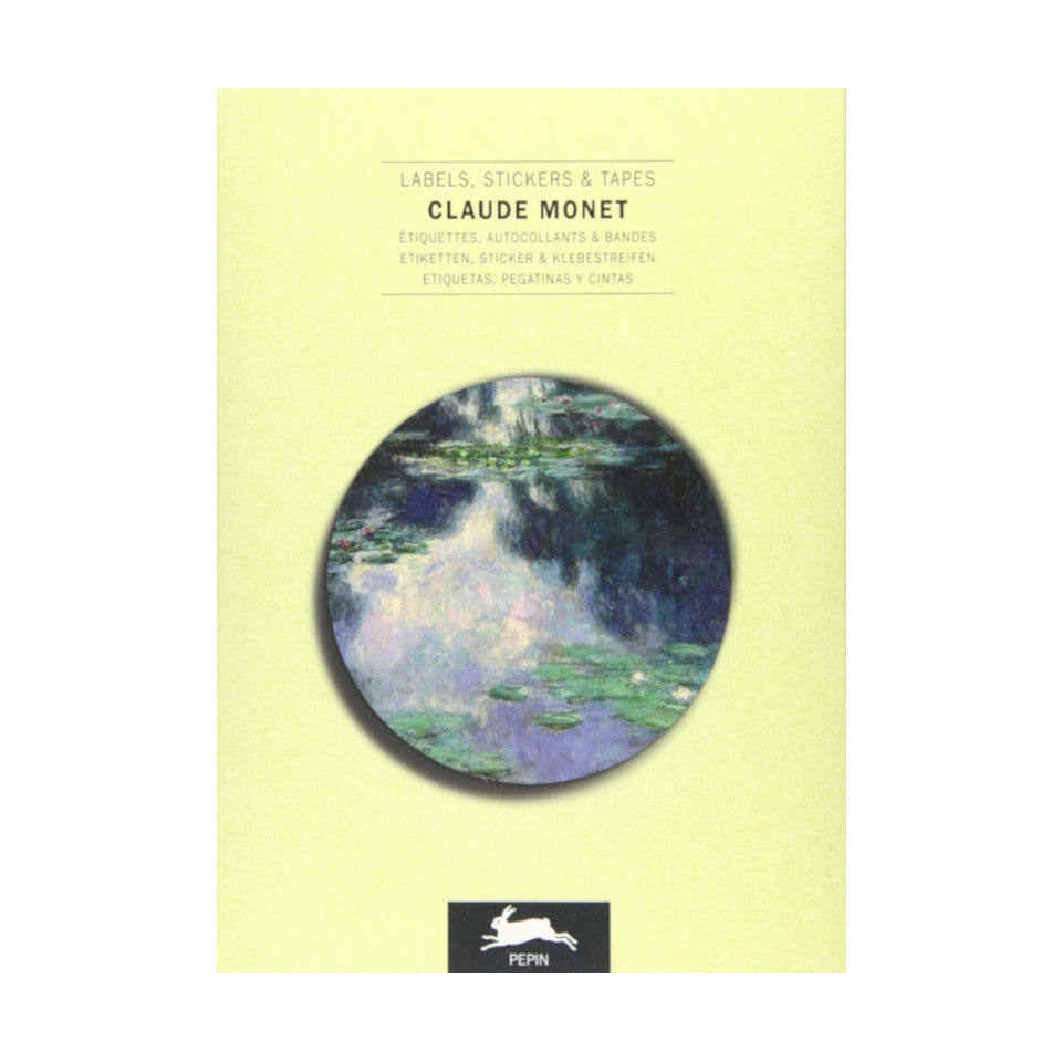Claude Monet labels, stickers and tapes craft book, with 32 sheets.