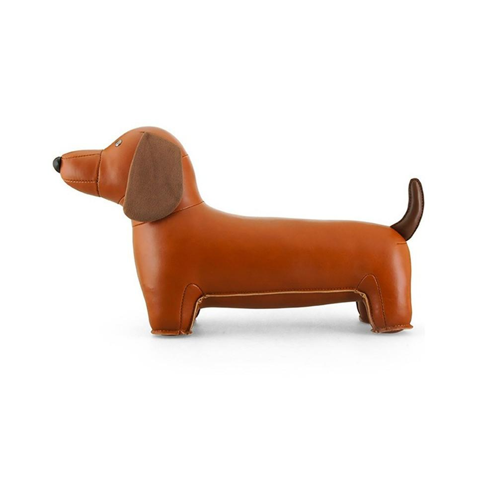 Dachshund bookend.