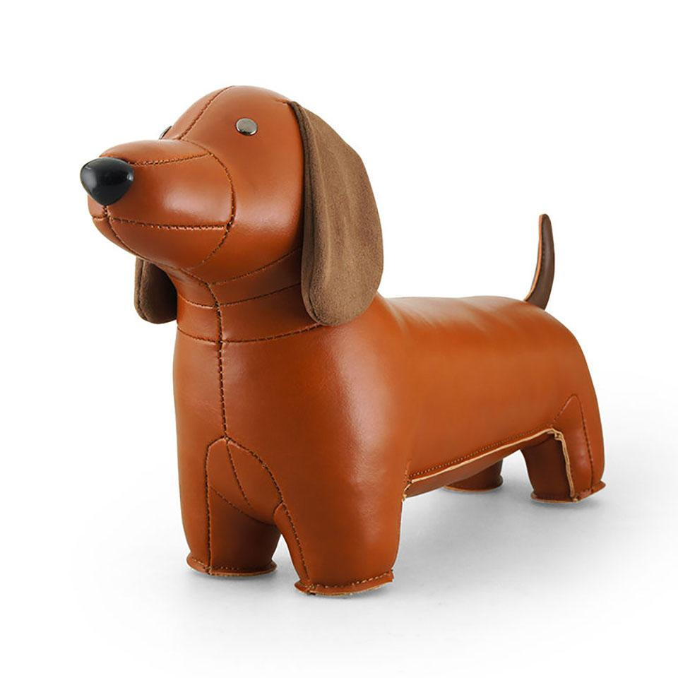 Dachshund face close-up, bookstop/doorstop.