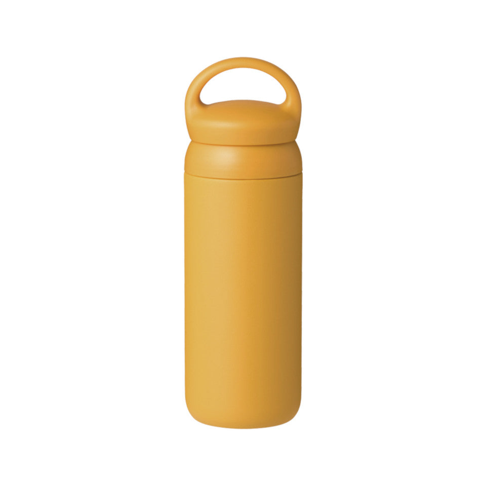 Day Off travel tumbler, mustard.