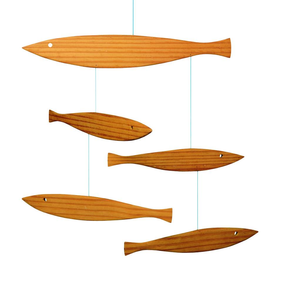 Flensted Floating Fish wooden mobile.