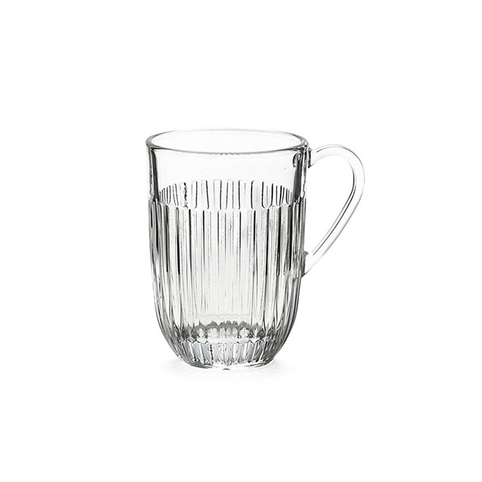 Glass tea / coffee mug, large.