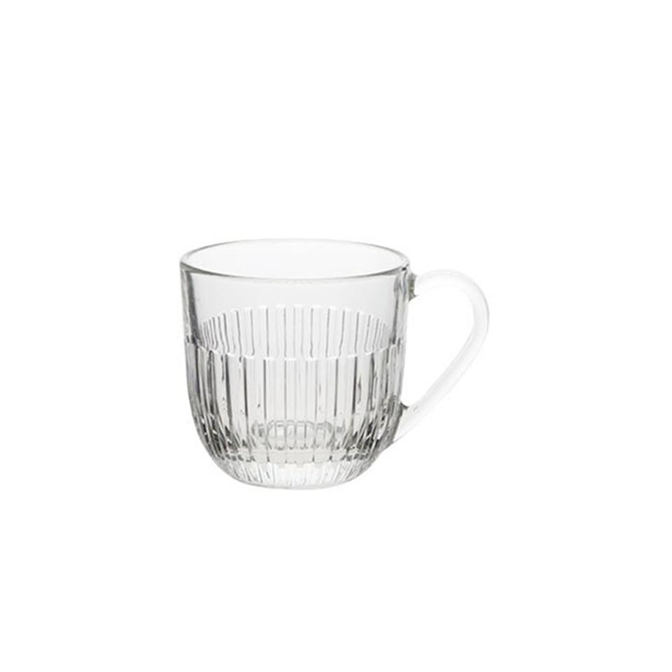 Glass tea / coffee mug, medium.