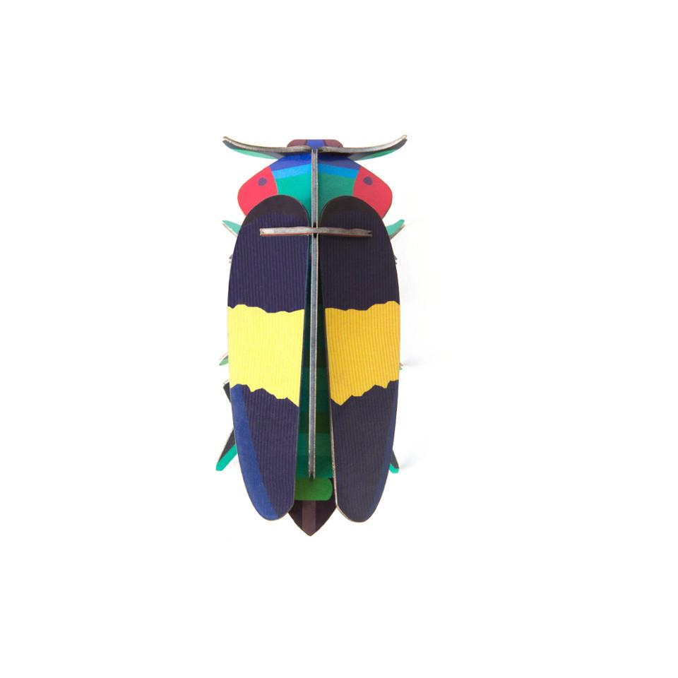 Jewel beetle cardboard decorative object.