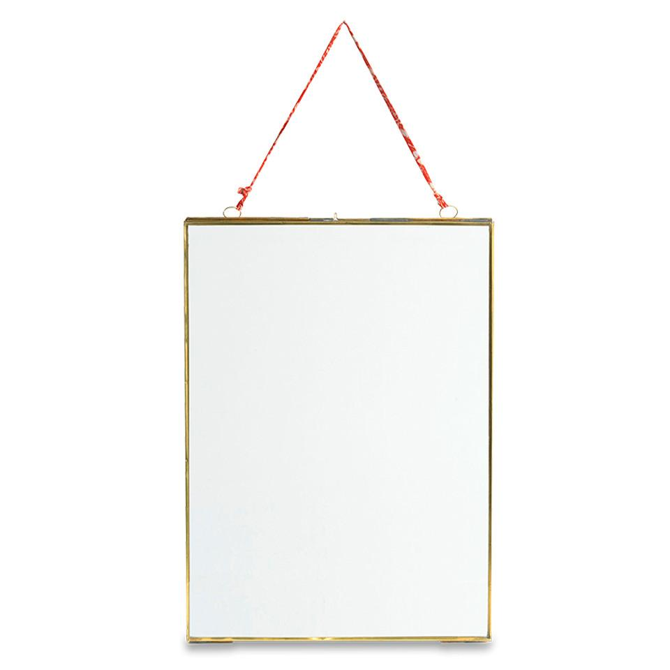 "Kiko antique brass portrait frame, for 8"" x 10"" photograph."