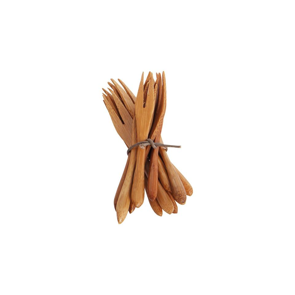 Bamboo mini fork, pack of 12.