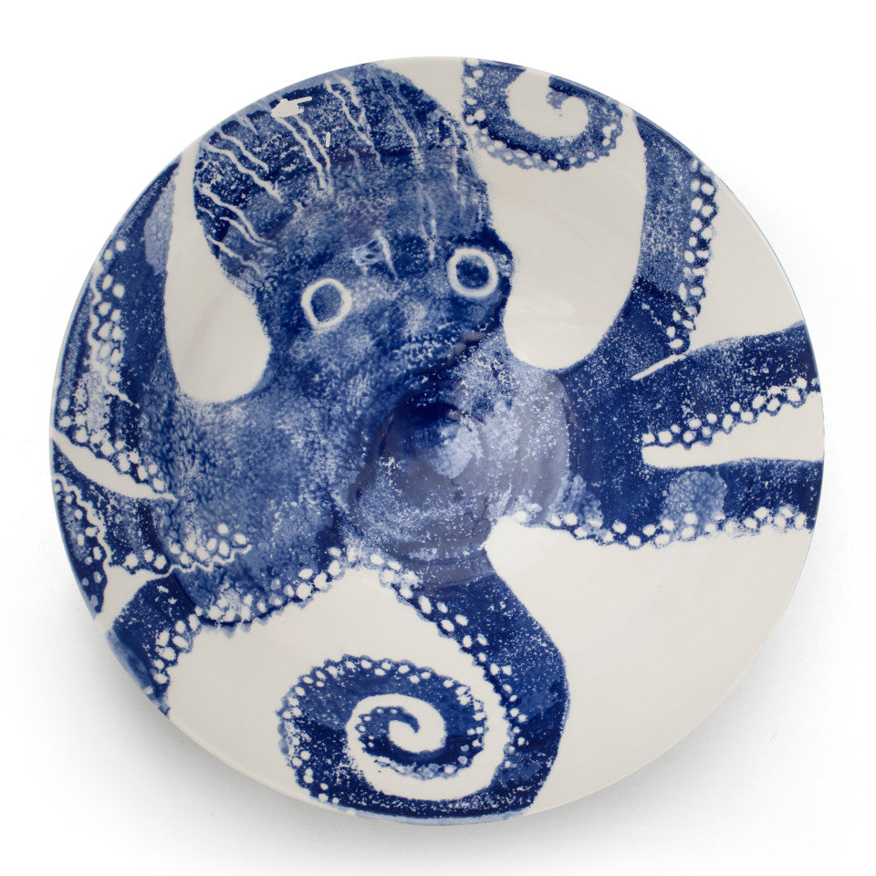 Sea Creatures earthenware Octopus salad bowl, 30 cm.