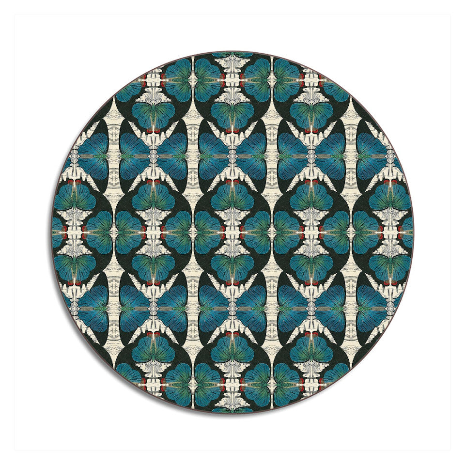 Wildlife by Patch NYC blue butterfly placemat.