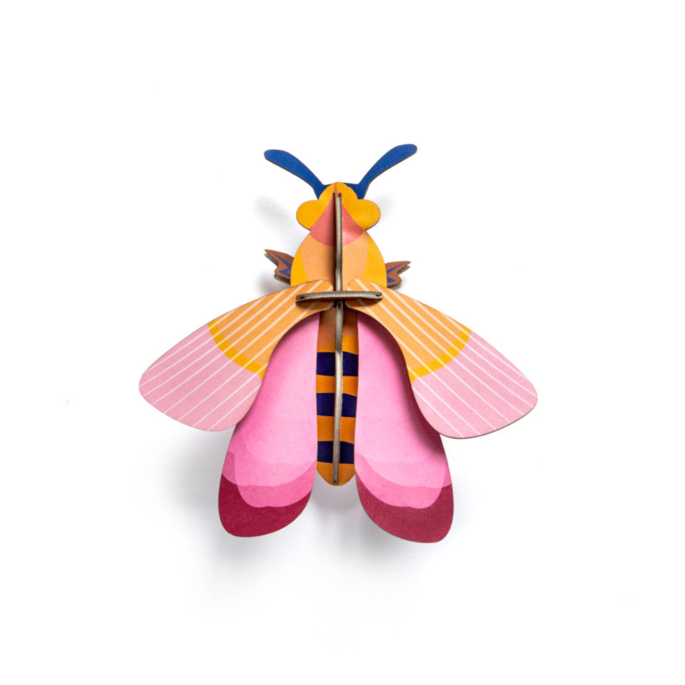 Pink Bee 3D decorative wall object.