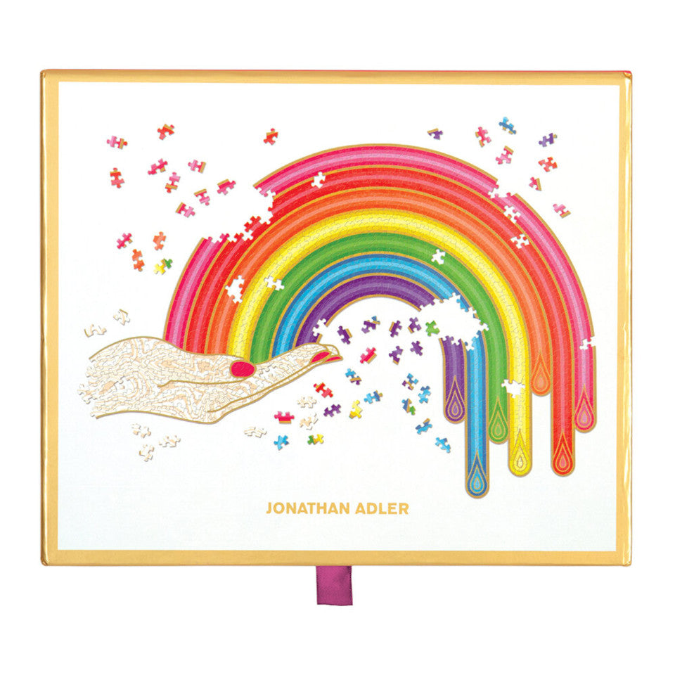 Rainbow Hand by Jonathan Adler 750 piece jigsaw puzzle, boxed.