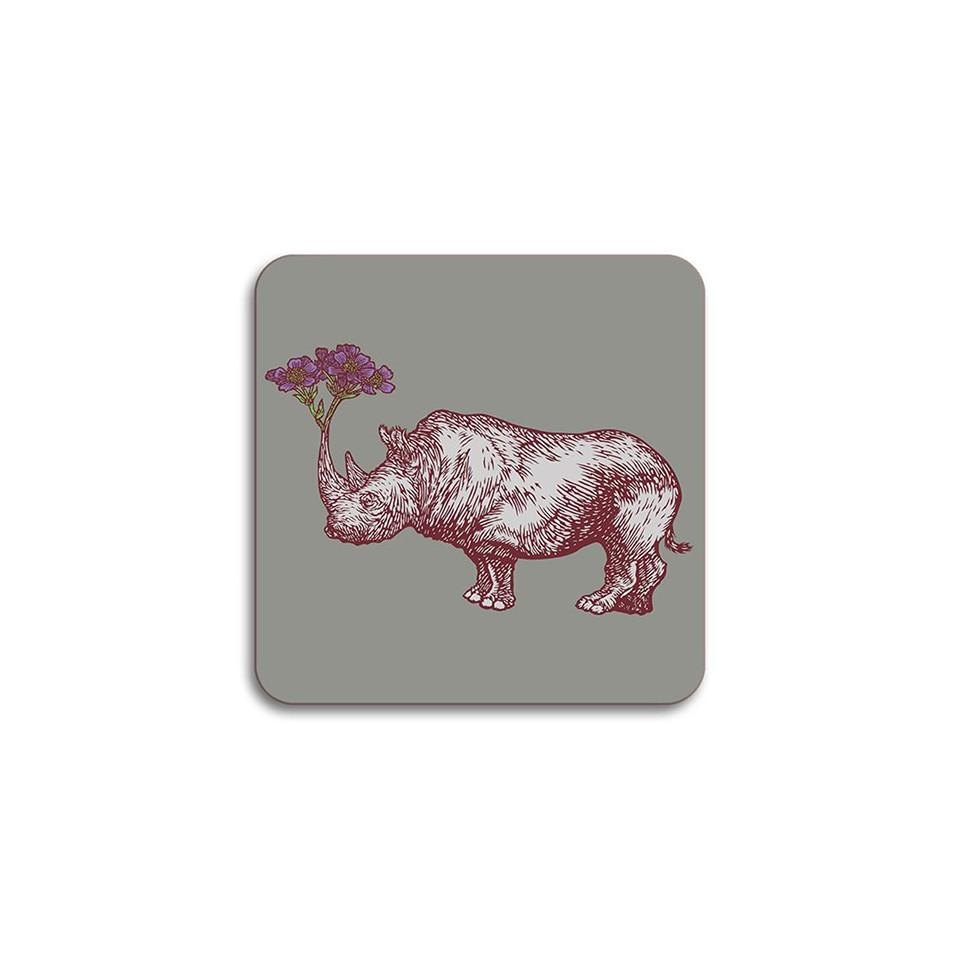 Puddin'head rhino animal coaster.