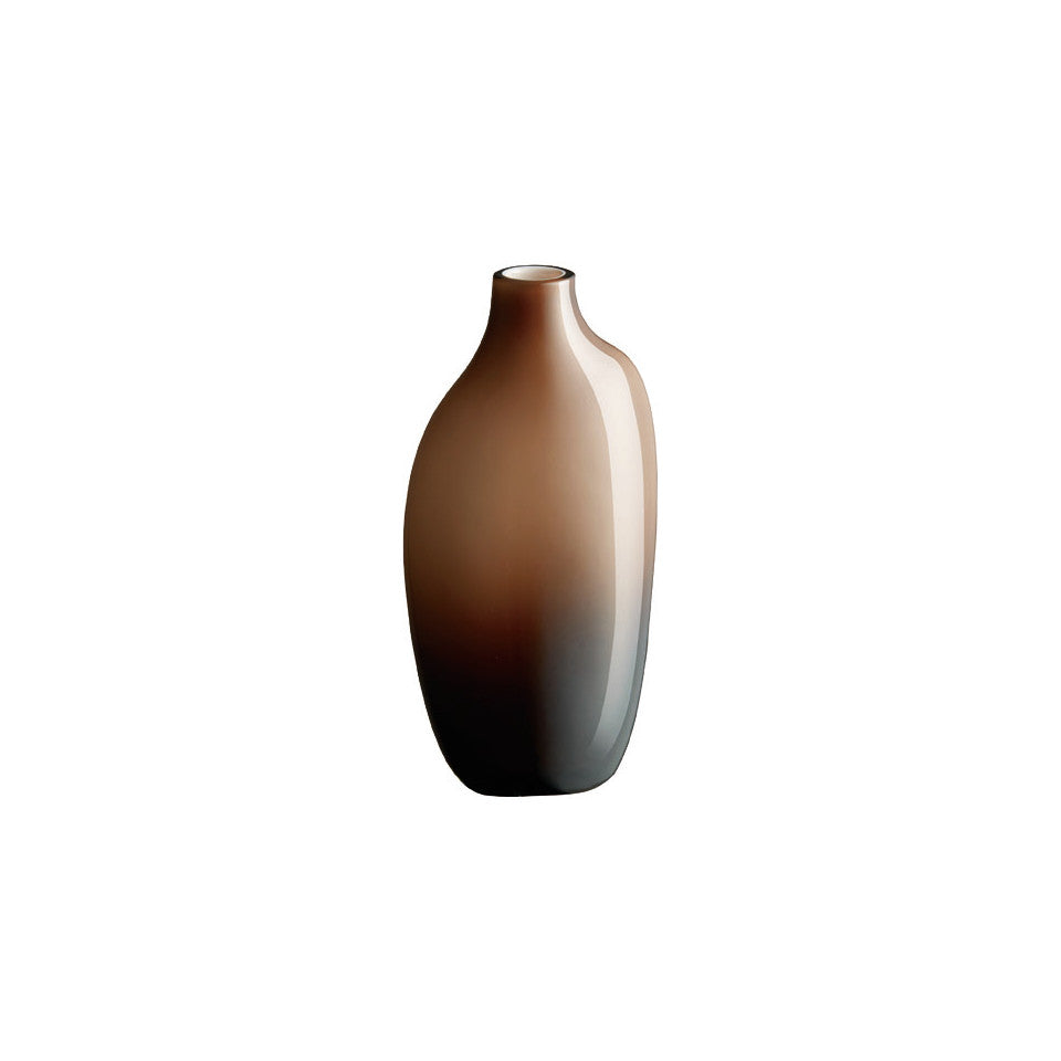 Sacco brown glass large vase.
