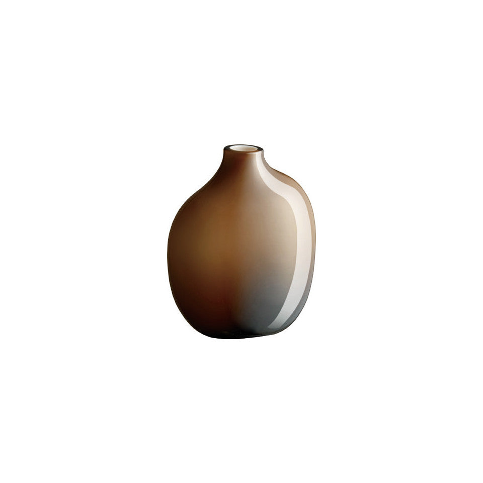 Sacco brown glass medium vase.