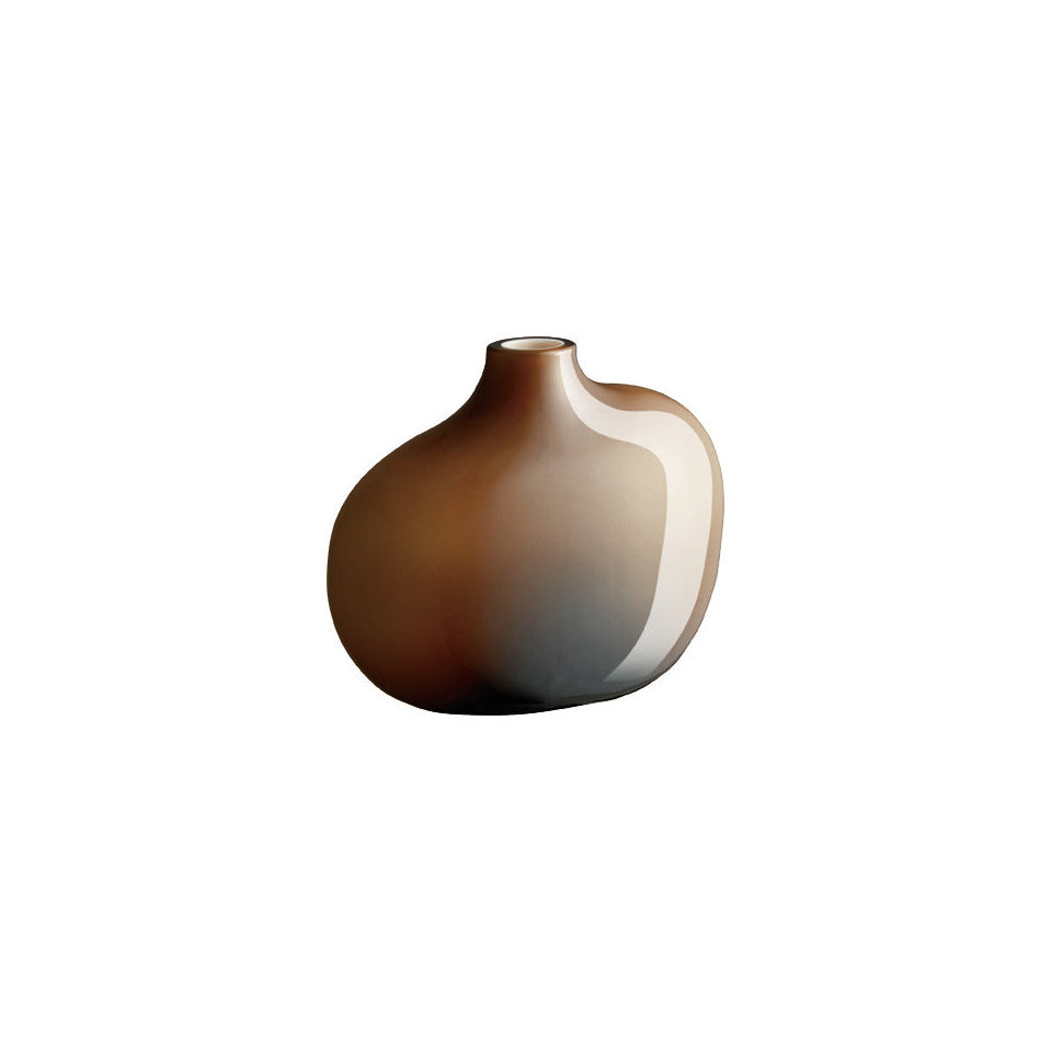 Sacco brown glass small vase.