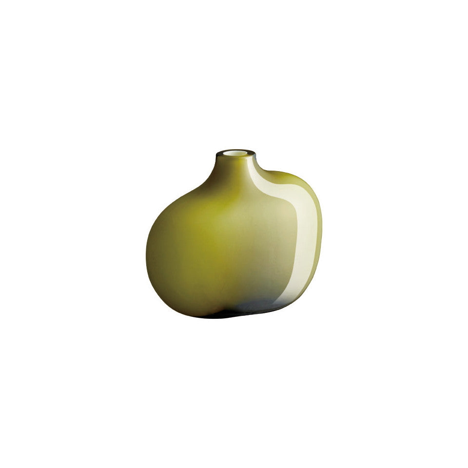 Sacco green glass small vase.