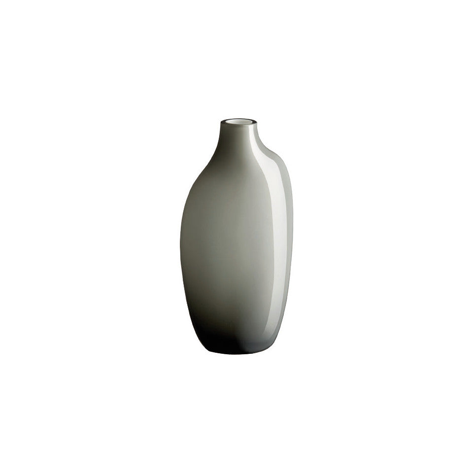Sacco grey glass large vase.