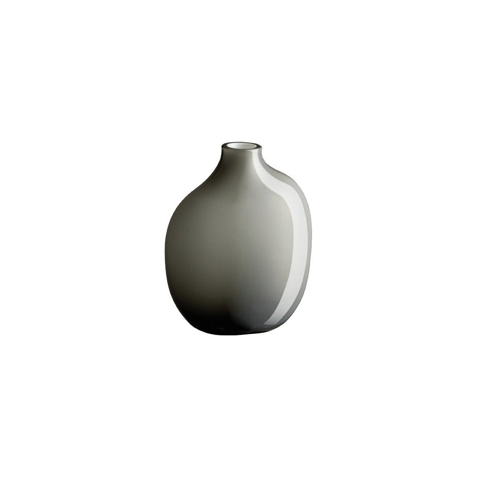 Sacco grey glass medium vase.