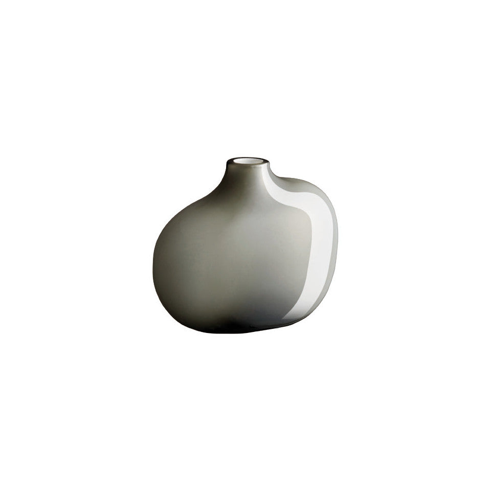 Sacco grey glass small vase.