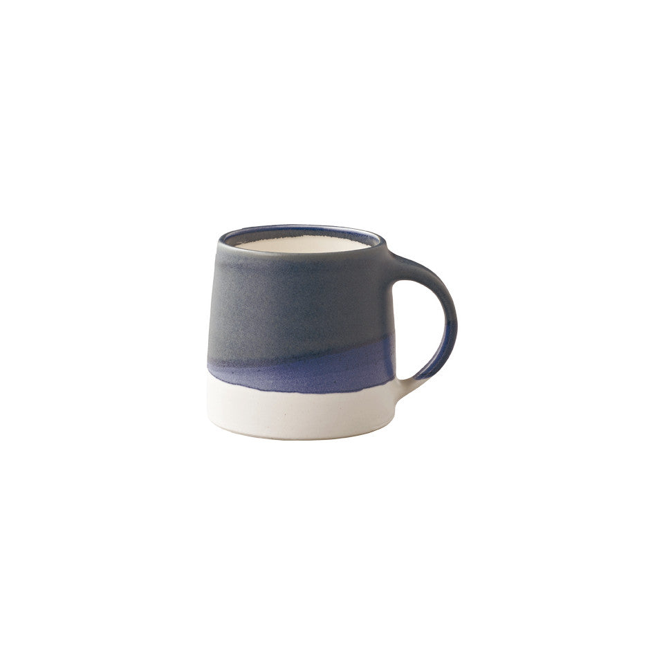 SCS (Slow Coffee Style) S03 navy / white porcelain coffee mug.