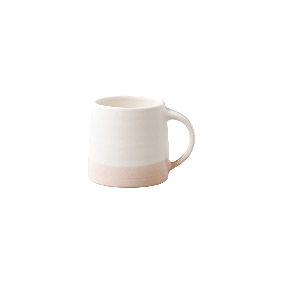 SCS (Slow Coffee Style) S03 white / pink coffee mug.