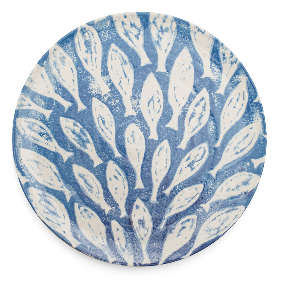 Sea Creatures earthenware Shoal platter, 36.5 cm.