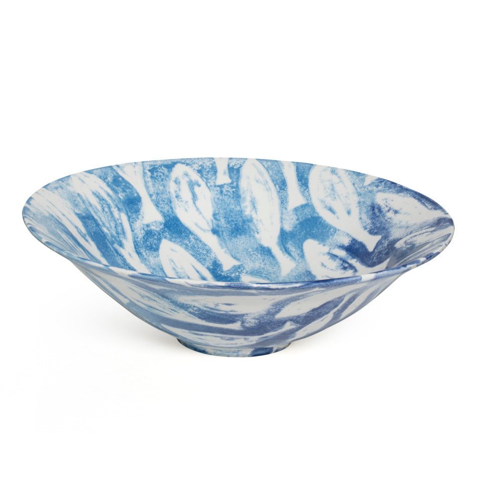 Sea Creatures earthenware Shoal salad bowl, 30 cm.