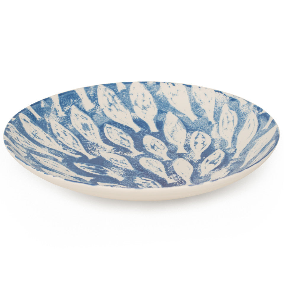 Sea Creatures earthenware Shoal serving bowl, 39 cm.