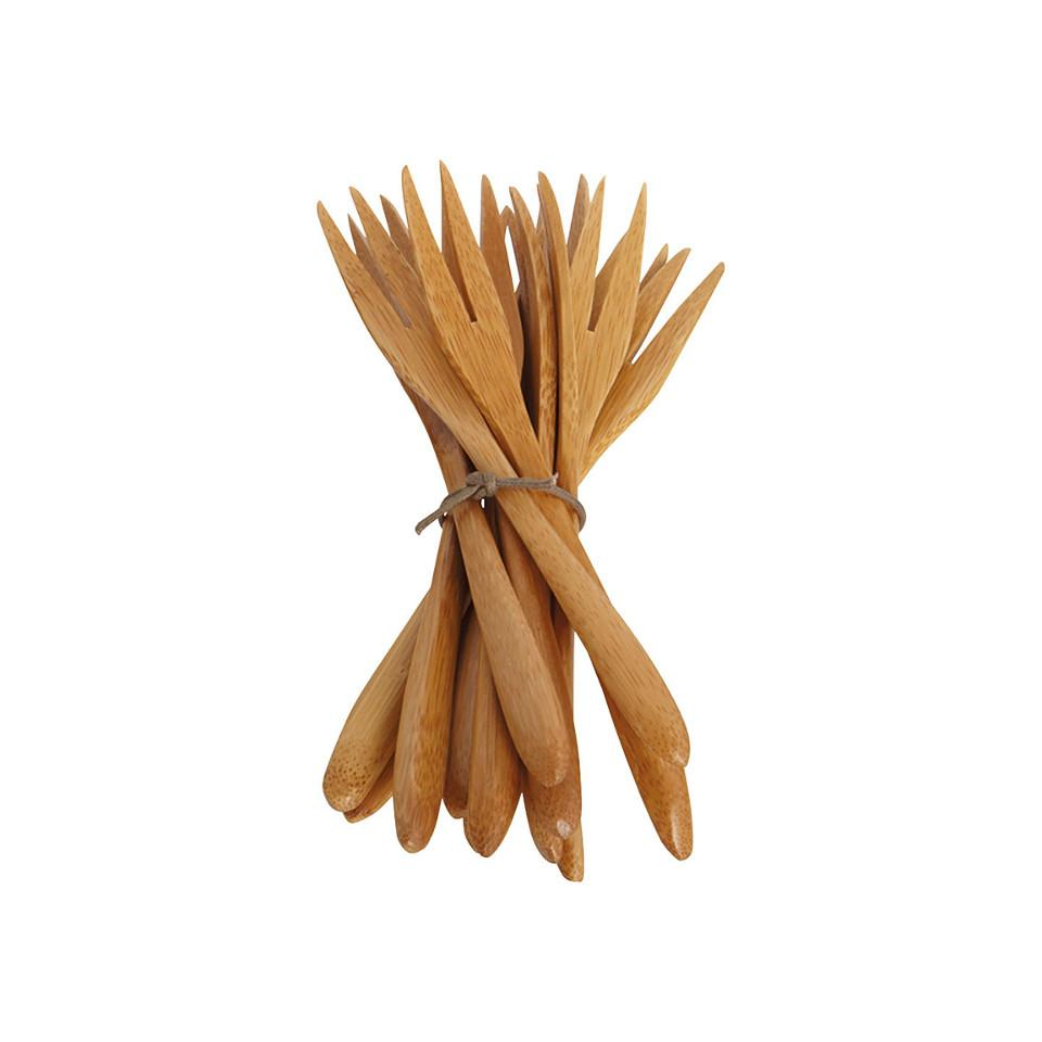 Bamboo small fork, pack of 12.