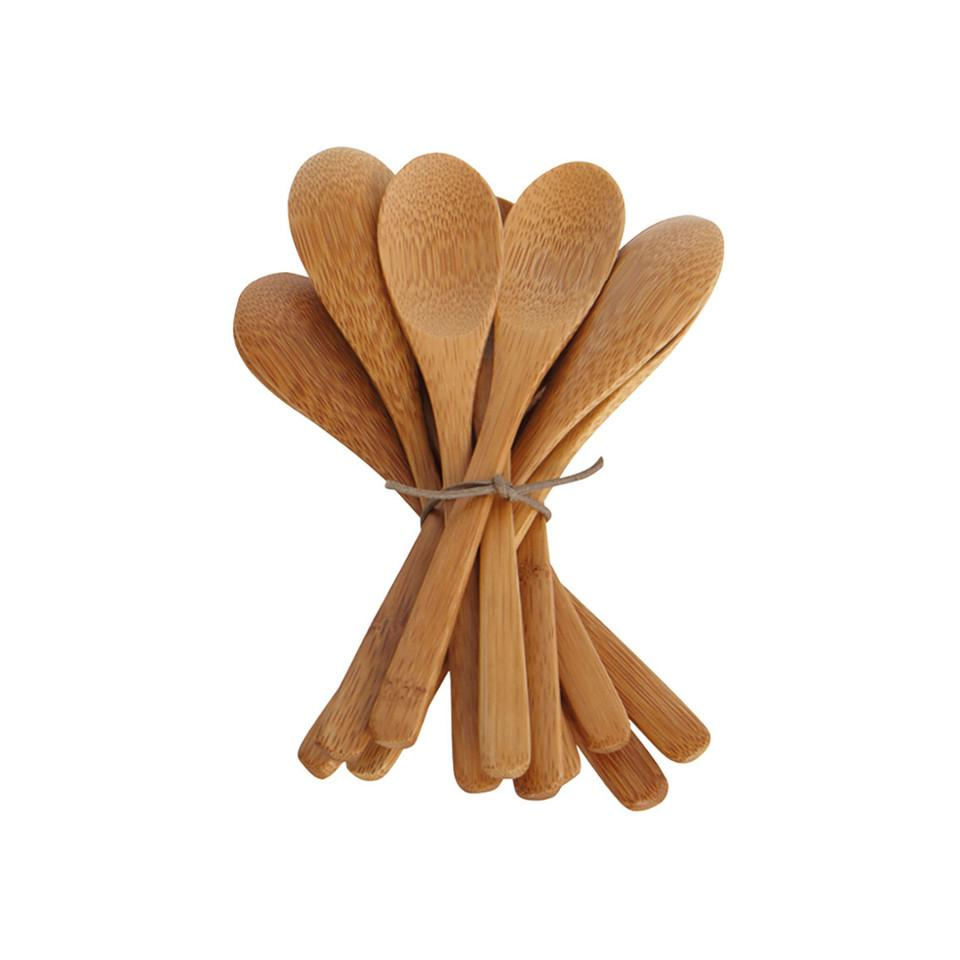 Bamboo small spoon, pack of 12.