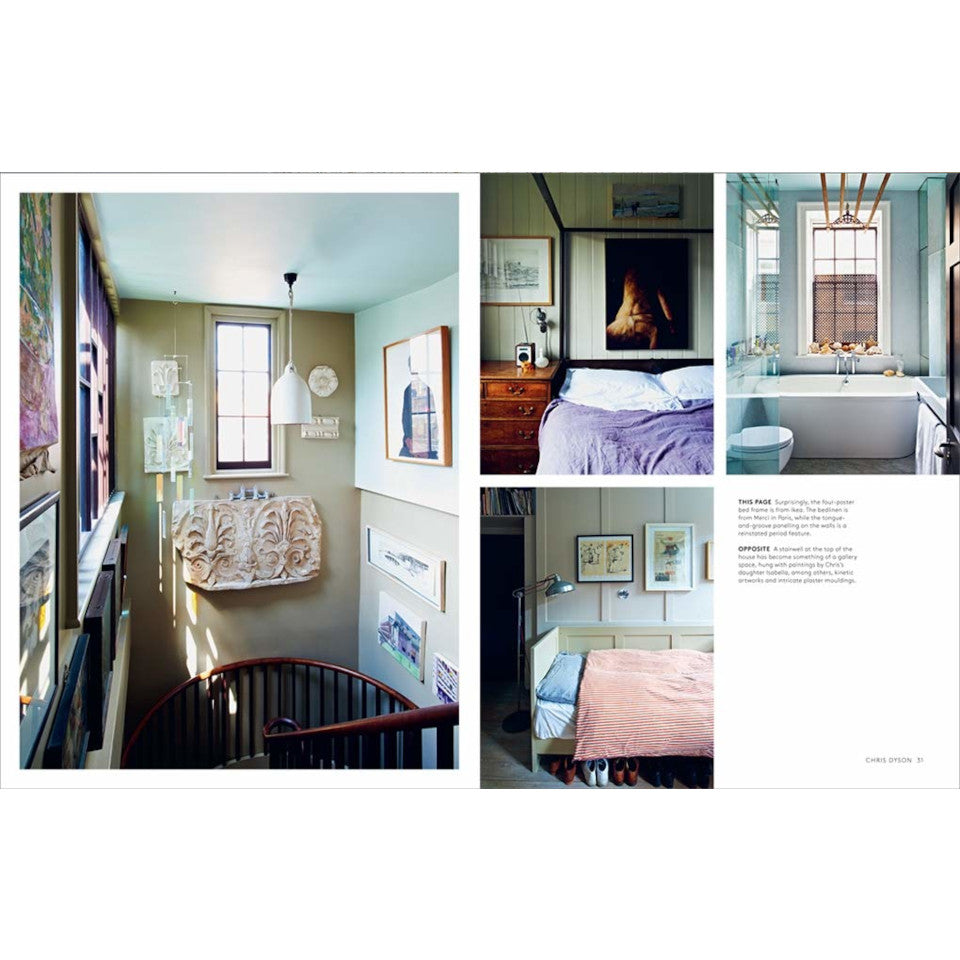 The New Creative Home (London style) interiors book, interior page detail.